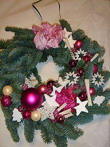 Dekorácie - Vianočný veniec na dvere(živá čečina) - 5652280_