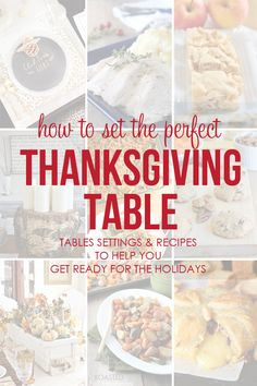 How to set the perfect thanksgiving table: Table Decor and Recipes to help you get ready for the holidays