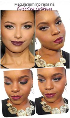 Maquiagem passo a passo inspirada na linda Kat Graham #makeup #katerinaGraham #party #fashion #katGraham #blackgirls #blackgirlsrock