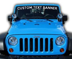 "Jeep Mud Sweat /& Beers Windshield Banner Decal 23/"" Sticker FITS ALL JEEPS"