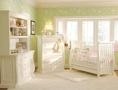 Green and white nursery