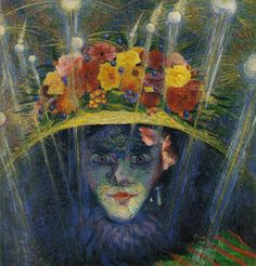 Boccioni, Umberto Modern Idol 1911 Oil on wood 23 ½ x 23 in (59.7 x 58.4 cm) Estorick Collection of Modern Italian Art, London