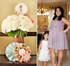 """There's so much pretty eye candy to share in this gorgeous """"Tres Shabby Chic"""" Baby Shower Brunch for the sweet & talented Andrea from Dolce Drive! I lo"""