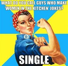 Check us out on Twitter https://twitter.com/#!/NoSeriouslyOff / Women In The Kitchen Jokes.