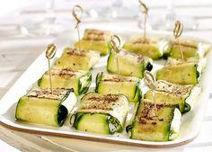 Gegrilde courgettehapjes met mozzarella