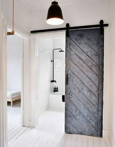 Scandinavian Bathroom With Sliding Door : Different Types Of Bathroom Doors