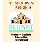 This six-slide interactive Powerpoint activity adds each of the Southwest Region state and capital names as you click. Great to use for a daily rev...