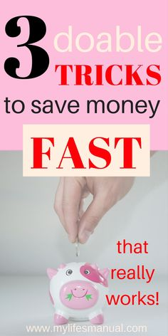 Are you looking for ways to save money fast? These 3 tricks can help you with that. Broke and living on one income? These 3 tricks are for you. #savingmoney  #frugal