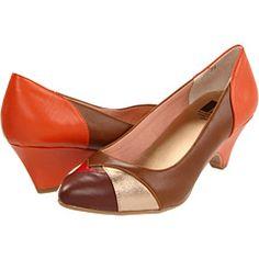 orange brown heels