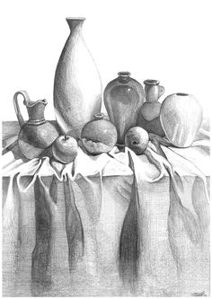 drawing form - Google Search Still Life Sketch, Still Life Drawing, Animal Sketches Easy, Art Sketches, Realistic Pencil Drawings, Pencil Art Drawings, Still Life Pencil Shading, Protest Art, Geometric Drawing
