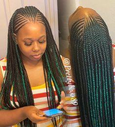 Braided Cornrow Hairstyles, Faux Locs Hairstyles, Black Girl Braids, Braided Hairstyles For Black Women, African Braids Hairstyles, Braids For Black Hair, Cornrow Braid Styles, Afro Twist Braid, Plaits