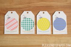 Please Note: Free Printable Gift Tags! Definitely something I am going to try Diy Christmas Tags, Creative Christmas Gifts, Noel Christmas, Christmas Gift Tags, Christmas Printables, Holiday Gifts, Christmas Crafts, Christmas Ornament, Xmas