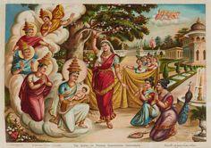 The Birth of Prince Siddhartha Gautama by Buddhist Painter Maligawage Sarlis - Sri Lanka Mid century Buddha Life, Asian Art Museum, Commercial Art, Indian Art, Art Google, Sri Lanka, Modern Art, Artist, Artwork