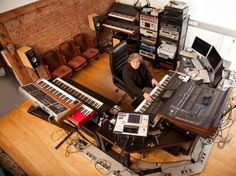 Composer Gerd Schuller's Home #Studio, Graz, Austria. Wow! That's a nice room!
