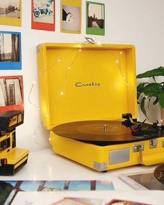 Crosley Cruiser Yellow Bluetooth Vinyl Record Player Shop Crosley Cruiser Yellow Bluetooth Vinyl Record Player at Urban Outfitters today. We carry all the latest styles, colours and brands for you to choose from right here. Vinyl Record Player, Record Players, Vinyl Records, Crosley Record Player, Football Players, Bedroom Vintage, Vintage Room, Retro Room, Retro Art