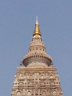 Top of old budha temple at bodhgay
