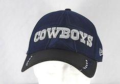 Dallas Cowboys Blue Black NFL Baseball Cap Stretch Fit M L  1f8291ca7f57