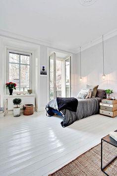 Wit geverfde vloer
