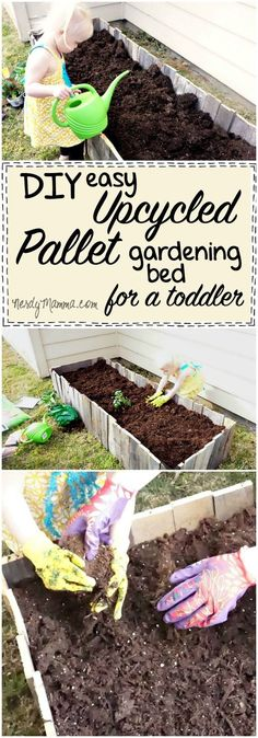 I love this idea for an easy upcycled pallet gardening bed. My kiddo would think this is just too cool!  AD #LoveYourLawn #cbias