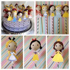 Princess Cake Pops...very cute.
