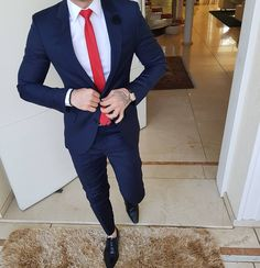 Navy Blue Business Suits for Men Attire Groom Tuxedos Peaked Lapel Groomsmen Wear Man Outfit Costume Homme Slim Fit Terno Masculino Indian Men Fashion, Mens Fashion Suits, Mens Suits, Formal Dresses For Men, Formal Men Outfit, Wedding Dress Men, Wedding Suits, Tuxedo Wedding, Terno Slim
