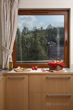 modern design #windows kitchen; interni moderni cucina #finestre di Oknoplast