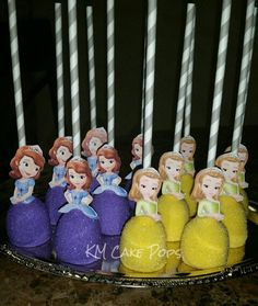 Sofia the First cake pops by KM Cake Pops