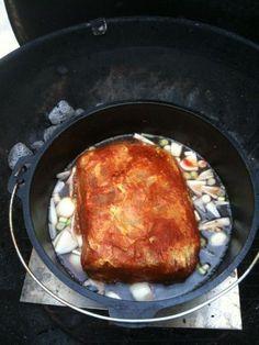 Pulled Pork im Dutch Oven nach Slater - Rezeptdatenbank der BBQ-Piraten