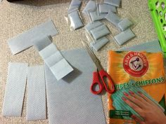 Making Scentsy Kitchen soap samples!  Very inexpensive!  The wipes were 1.25 for a pack of 10 and the baggies were 1.00.  Cut each sheet into 4 strips (do not unfold the sheets.)  Pre-fold like shown.  Fold once, add a drop or two to the sheet, then fold the rest and bag!