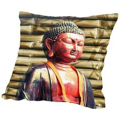 """East Urban Home Buddha With Bamboo Background Graphic Art on Wrapped Canvas Size: 20"""" H x 16"""" W x 1.5"""" D"""