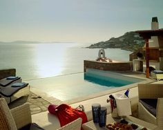 Diseño de Interiores & Arquitectura: Playa de las Cícladas Luxury Resort: El Cielo en la Isla de Mykonos