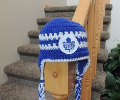 Toronto Maple Leafs crochet hat patterns Pinterest ...