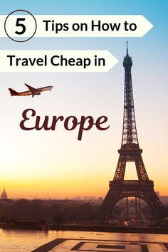 Looking for tips for your vacation plans? Here are 5 tips on how to travel cheap in Europe. From lodging and accommodation to food and transportation, here's how you can make the most out of your Europe trip without breaking the bank. Paris Travel Guide, Travel Guides, Travel Tips, Travel Hacks, Travel Advice, European Destination, European Travel, Cheap Travel, Budget Travel