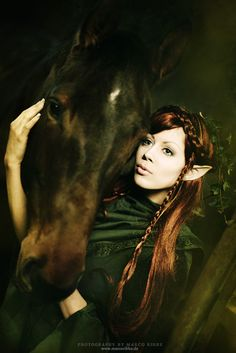 elf and her horse - should this be in Equestrian Art?
