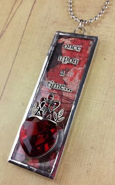 Once Upon A Time Pendant and Chain by MischievousCreations on Etsy