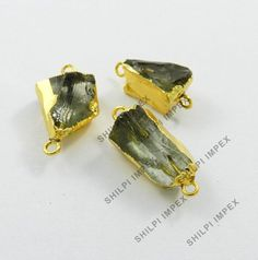 5Pc! Natural Green Amethyst Brass Gold Electroplating Wholesale Lot Connectors #Shining_Gems #Connectors #Jewelry #gemstone