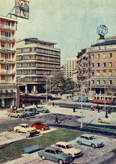 Warsaw on Postcards: Lata XX wieku / Socialist State, Warsaw Poland, Mobile Photos, Ppr, Krakow, Landscape Paintings, City Photo, Street View, Europe