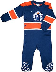 Mighty Mac Edmonton Oilers Infant Face Off Sleeper - Shop.Canada.NHL.com