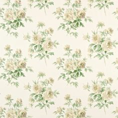 Style Library - The Premier Destination for Stylish and Quality British Design Fabric Wallpaper, Pattern Wallpaper, Paper Background, Background Patterns, Decoupage, Sanderson Fabric, Painted Rug, Living Room Green, Saint Antonio