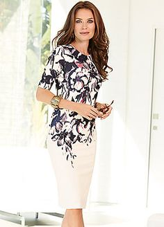 Floral Placement Print Dress #cruisewear #holiday #kaleidoscope