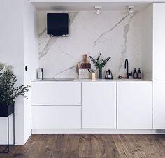 270 Best Black and White Interior Design images Interior Design Boards, White Interior Design, Interior Design Kitchen, Laundry Room Layouts, Silver Bedroom, Basement Inspiration, Black And White Interior, Contemporary Kitchen Design, Scandinavian Kitchen