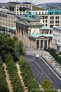 Areal view of Brandenburg Gate, Berlin, Germany  (I finally remembered the name of this well-known gate.)
