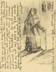 Old Woman Seen from Behind - Vincent van Gogh