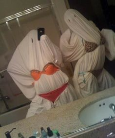 Slutty ghosts for Halloween. THIS IS HILARIOUS.