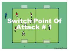 Soccer Switch Point Of Attack Goalkeeper Training, Soccer Training Drills, Soccer Workouts, Football Drills, Soccer Coaching, Soccer Practice, Soccer Games, Top Soccer, Soccer Stuff