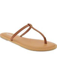 Women's T-Strap Sandals   Old Navy