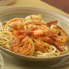 Recipe for OLD BAY® Shrimp Scampi. OLD BAY and fresh garlic supply just the right flavor for this attractive seafood entree that's ready in 15 minutes. Shrimp Dishes, Fish Dishes, Pasta Dishes, Main Dishes, Rice Pasta, Seafood Recipes, Pasta Recipes, Cooking Recipes, Seafood Meals