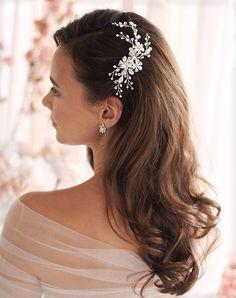 Long Hair Wedding Styles, Wedding Hair Down, Wedding Hairstyles For Long Hair, Hair Comb Wedding, Wedding Hair Pieces, Rustic Wedding Hair, Short Hair, Bridal Hairstyles Down, Outdoor Wedding Hair