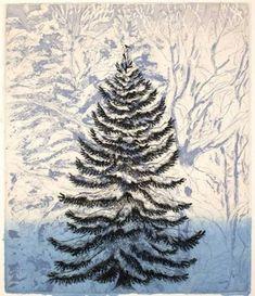 - Inari Krohn , 2007 Finnish, Lithograph , 30 x 24 cm. Himmelblau, Winter Art, Christmas Art, Abstract, Artist, Artwork, Painting, Image, Summary