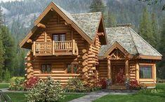 Me encantan las casas de troncos . ¡¡¡Podría vivir allí en un abrir y cerrar de ojos ! Log Cabin Living, Small Log Cabin, Log Cabin Homes, Cozy Cabin, Small Log Homes, Cabin Tent, Cozy Cottage, Cabins In The Woods, House In The Woods